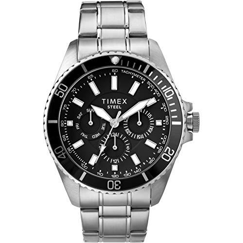 Amazon: Timex Reloj analógico de acero inoxidable de 44 mm para hombre