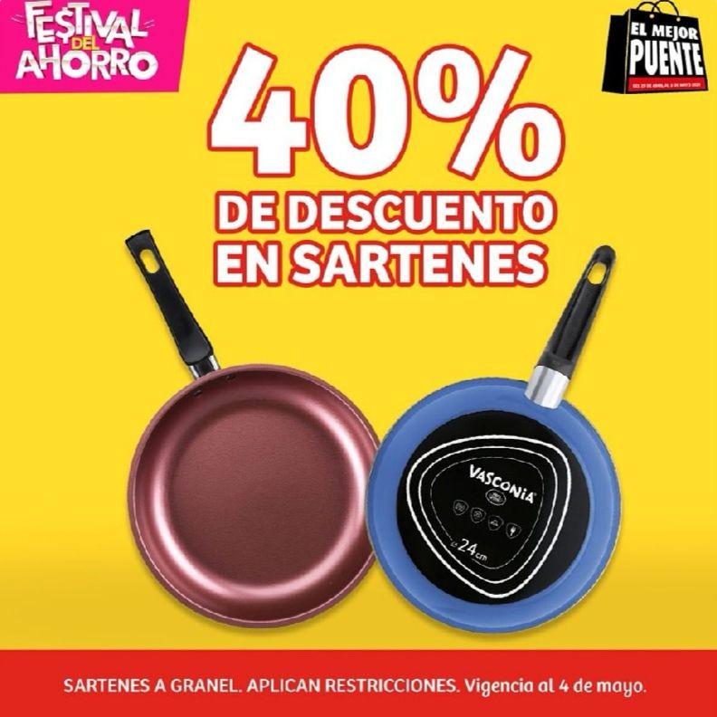 Soriana Mercado y Express: 40% de descuento en sartenes a granel