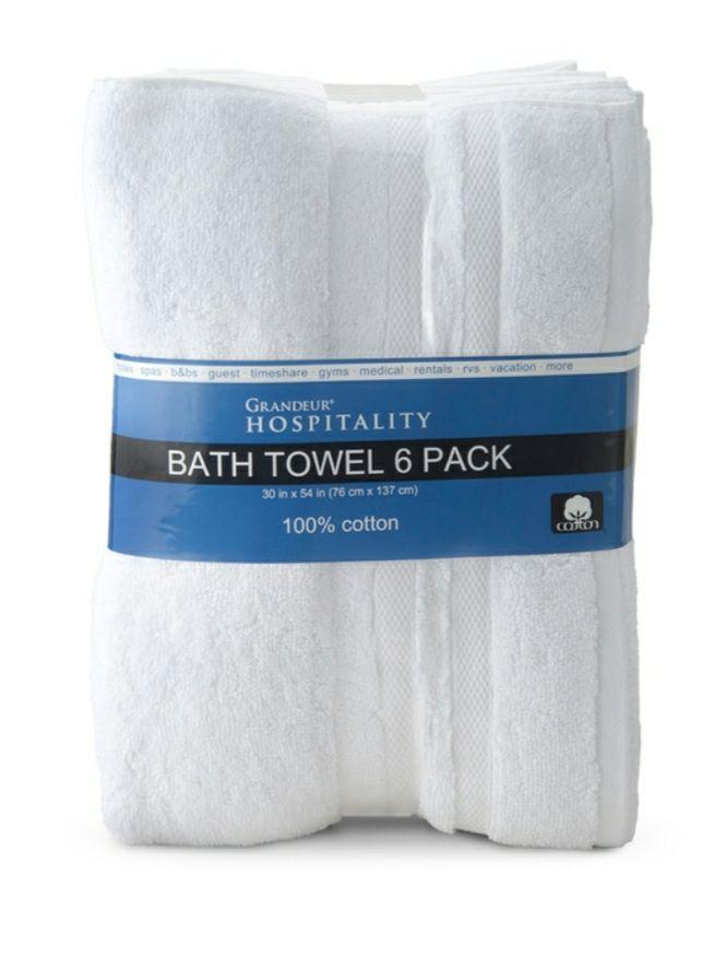 Costco: Grandeur, Toallas para Baño 100% Algodón Extra Suaves, 6 piezas