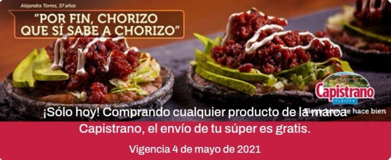 Chedraui: Envío gratis en super en la compra de cualquier producto Capistrano