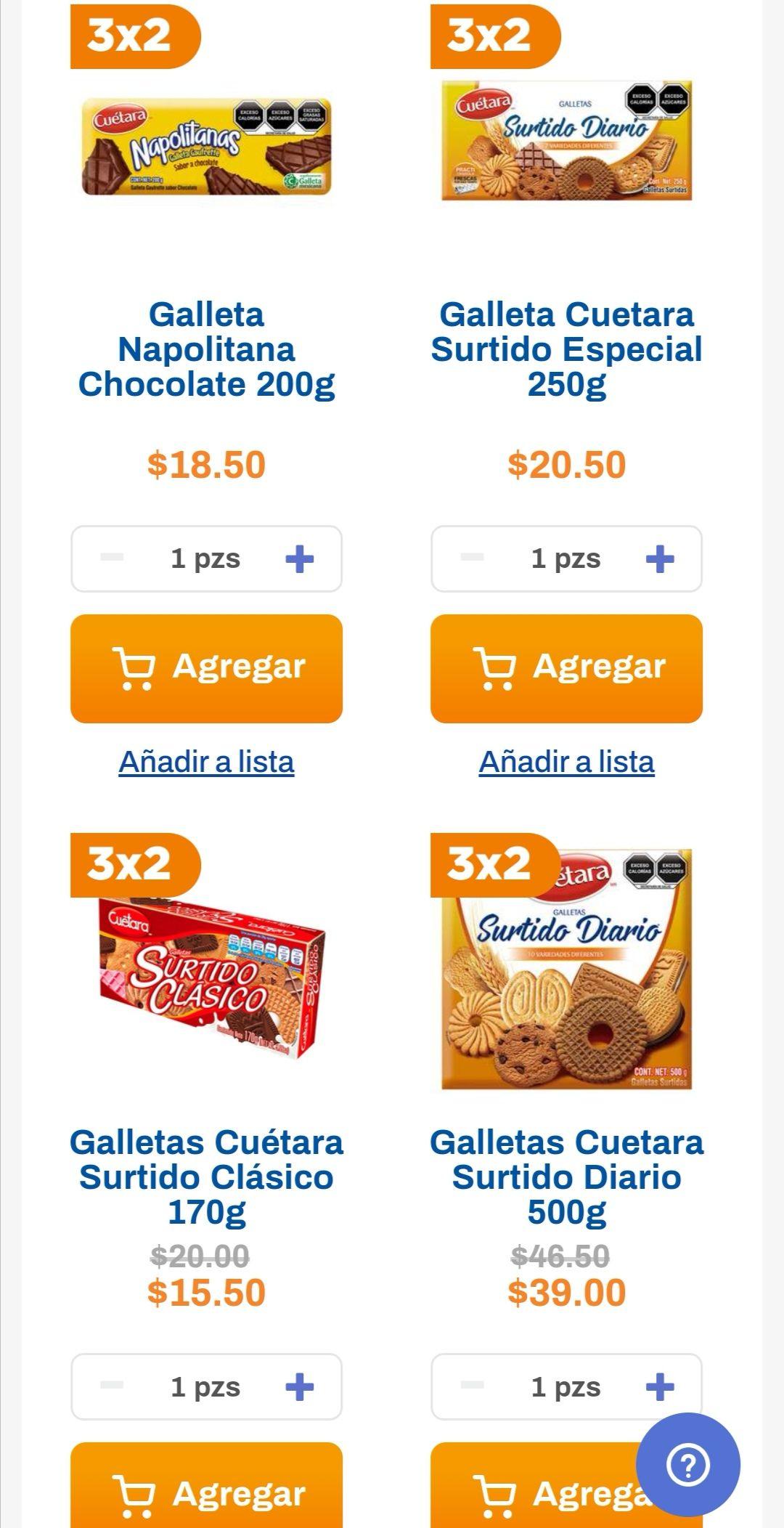 Chedraui: 3 x 2 en galletas Cuétara seleccionadas