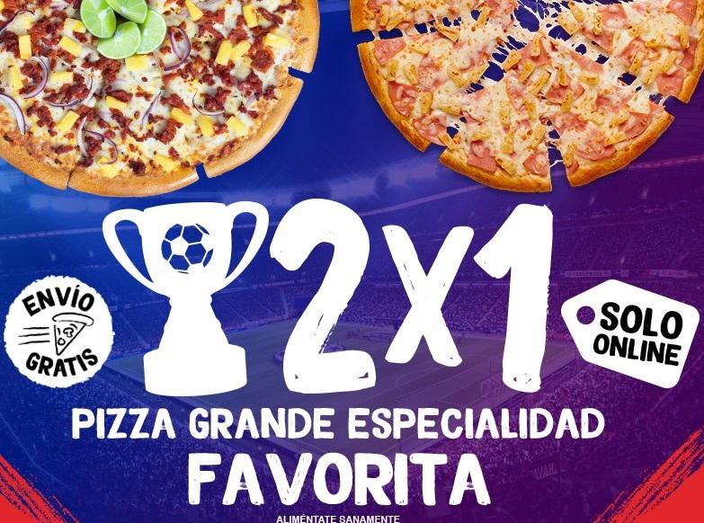 Pizza Hut: 2x1 Pizza Grande Tradicional y Orilla de Queso (solo en línea)