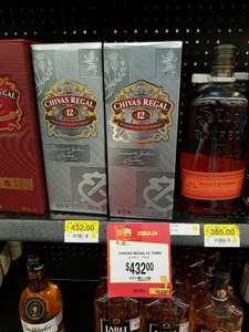 Walmart: Whisky Chivas Regal de $549 a $432