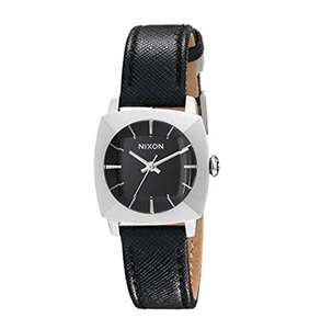 Amazon: Nixon Womens Stainless Steel Watch with Leather Band
