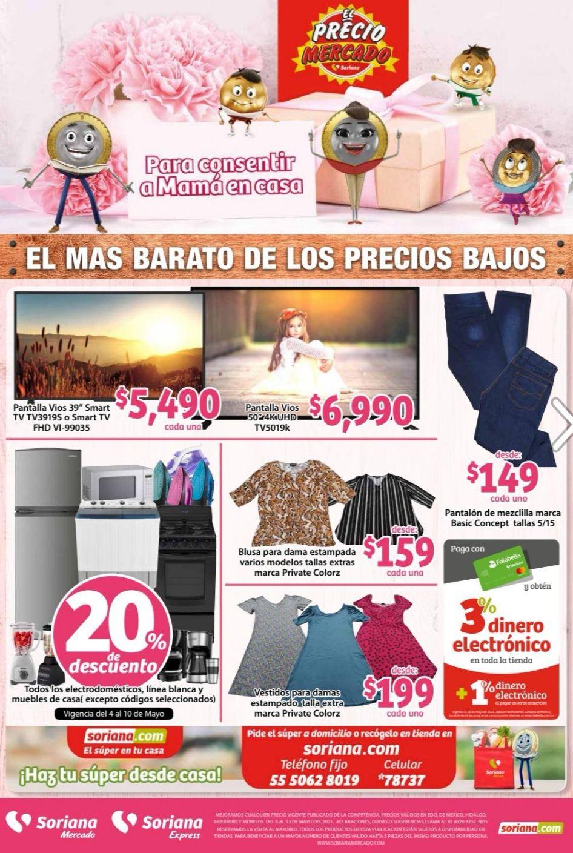 Soriana Mercado y Express: Folleto de Ofertas Quincenal del Martes 4 al Jueves 13 de Mayo