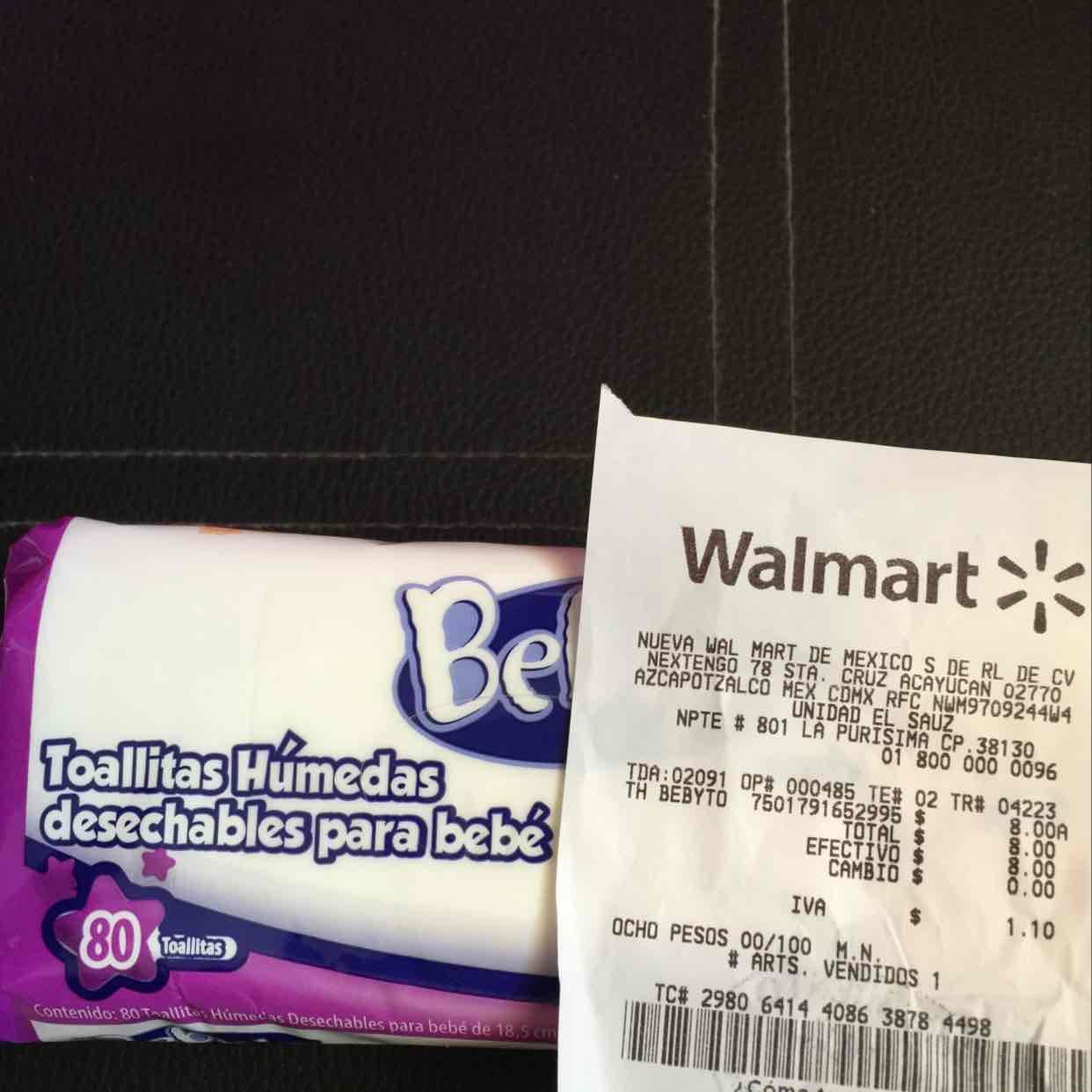 Walmart: toallitas humedas Bebyto a $8