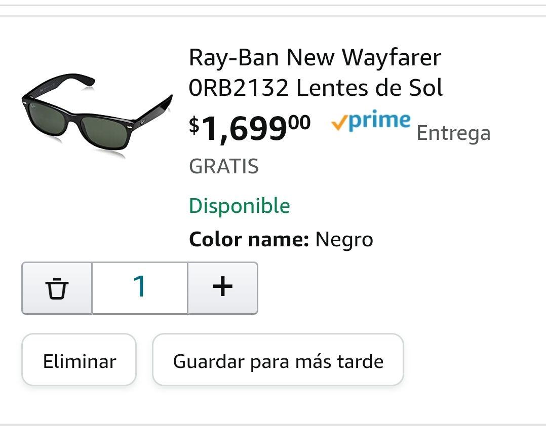 Amazon: Ray-Ban RB2132 902 Tortoise Brown/Crystal Green Size 52 New Wayfarer Sunglasses