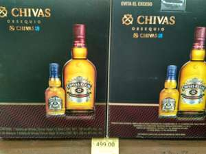 Superama: Chivas Regal 12 Años 750ml + Chivas Regal 18 años 200ml.