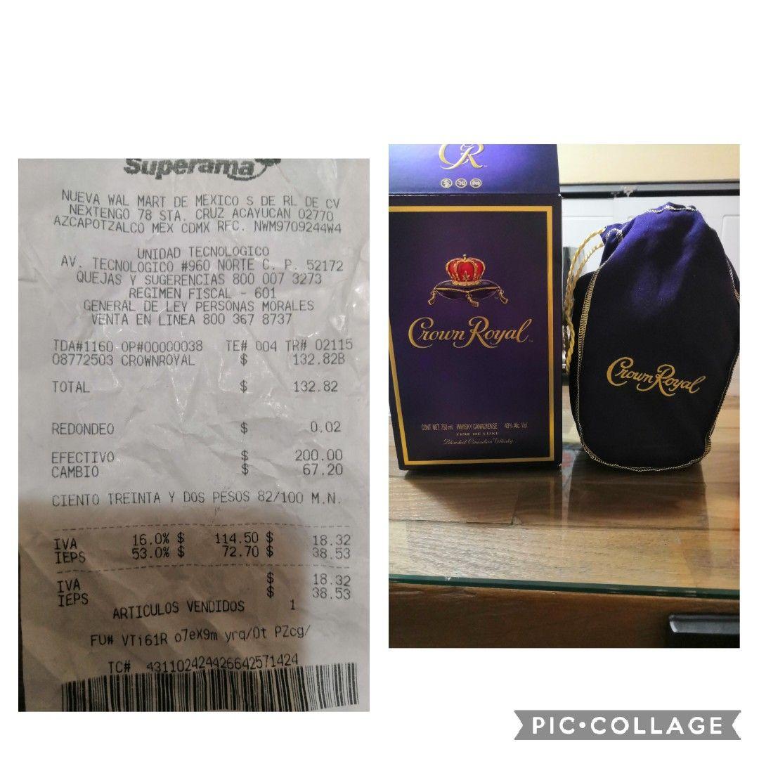 Superama: whisky crown royal en segunda liquidación, solo $132.82