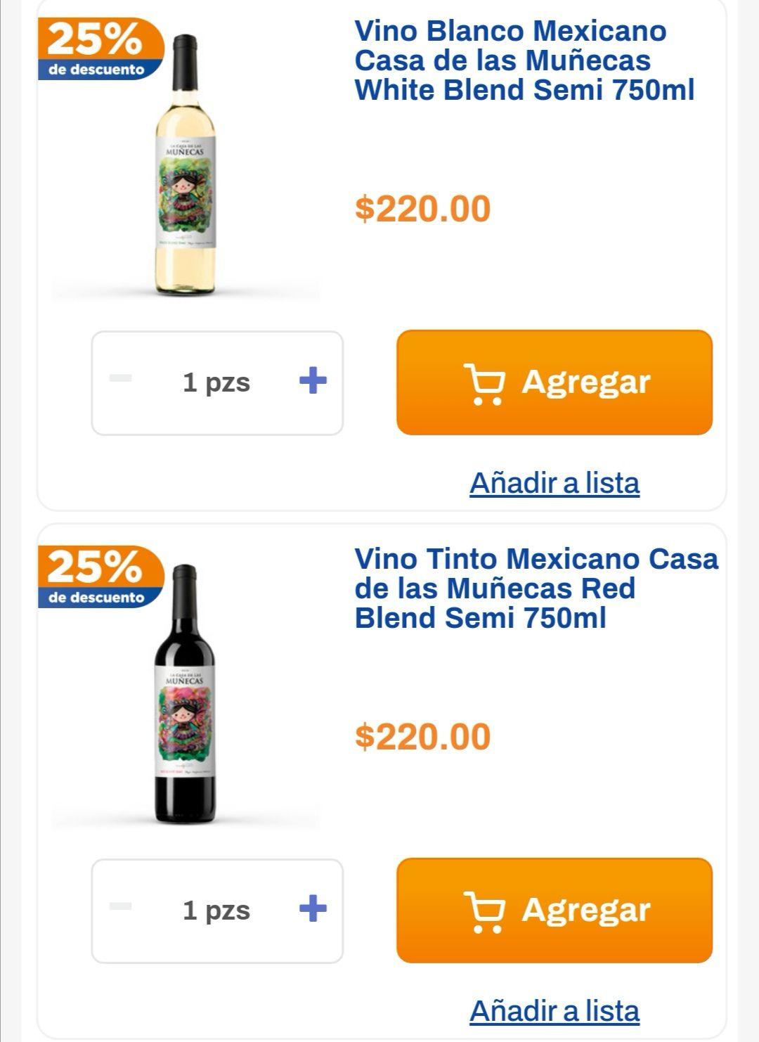 Chedraui: 20% de descuento en vinos La Casa de las Muñecas seleccionados