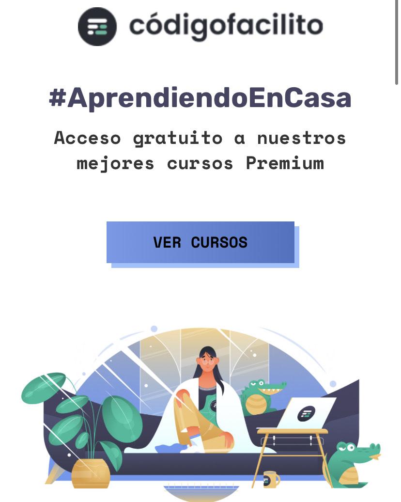 Código Facilito: Acceso gratuito a 5 cursos premium