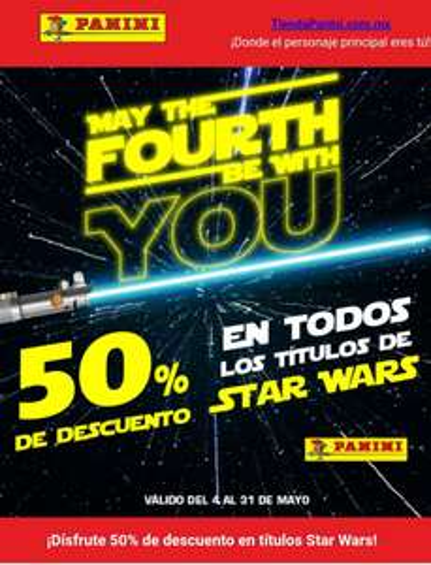 Panini %50 de descuento En Star Wars