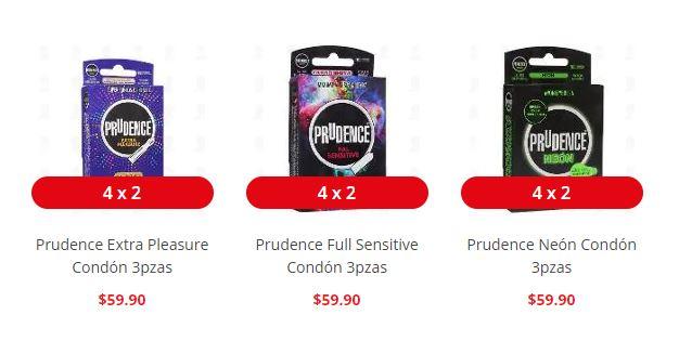 Farmacias Guadalajara: Preservativos PRUDENCE al 4 x 2 (solo en linea)