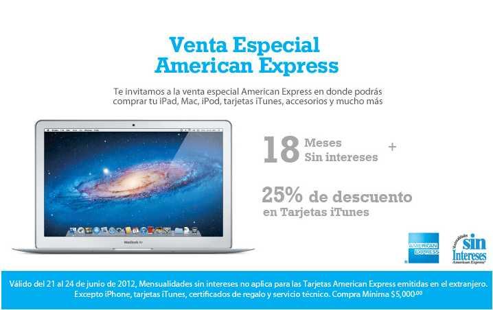 Venta Especial American Express en iShop Mixup: 25% de descuento en tarjetas iTunes y más
