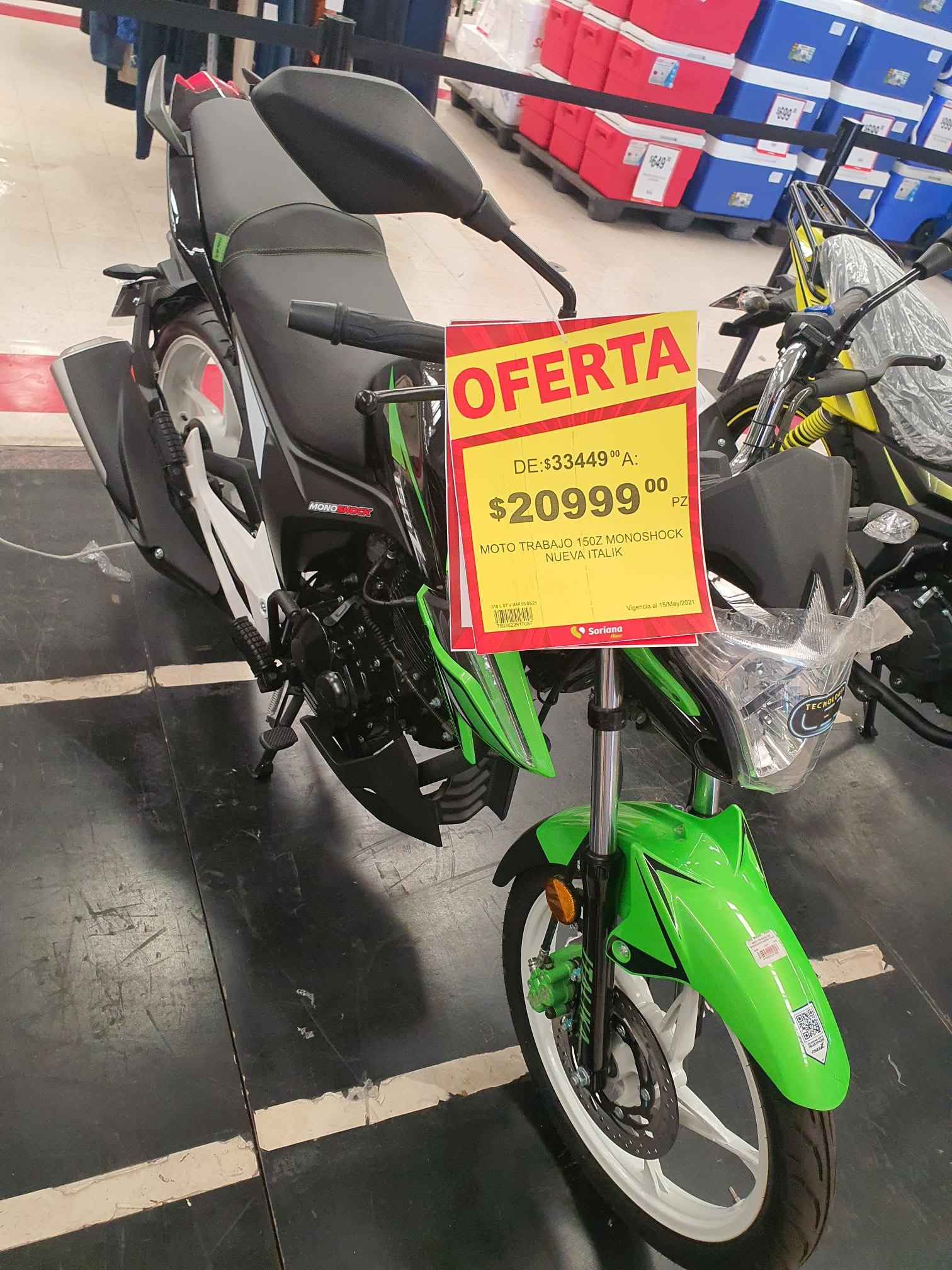 Soriana Moto trabajo 150Z monoshock 2019