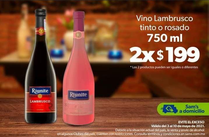 Sam's Club: Vinos Riunite 2x$199