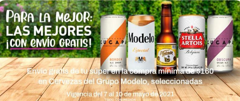 Chedraui: Envío gratis en la compra de $160 en cervezas del Grupo Modelo seleccionadas