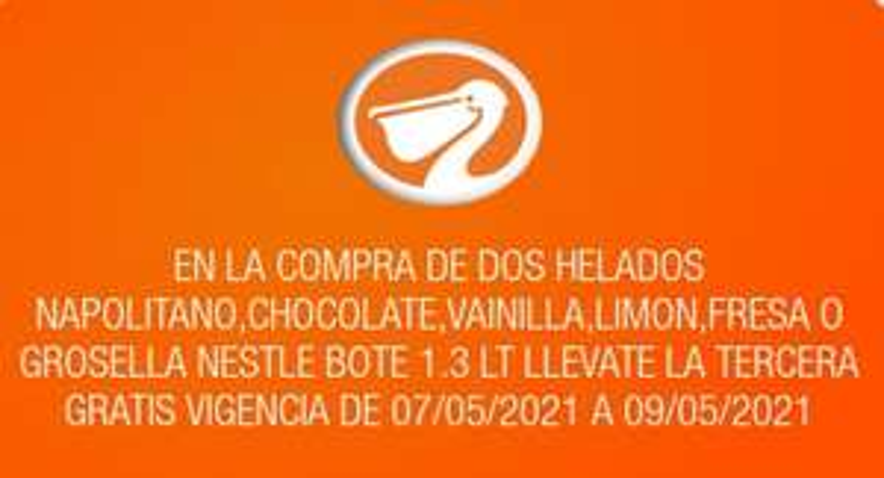 La Comer: 3 x 2 en helados Nestlé 1.3 L napolitano, chocolate, vainilla, limón, fresa o grosella