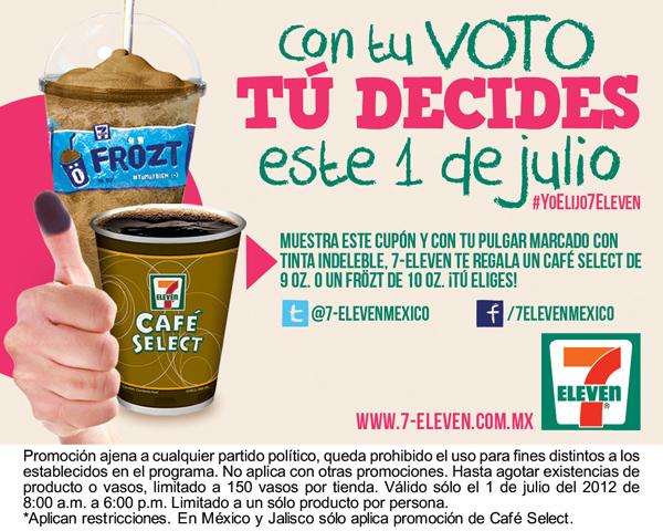 7 Eleven: café o Frözt gratis después de votar el 1 de julio