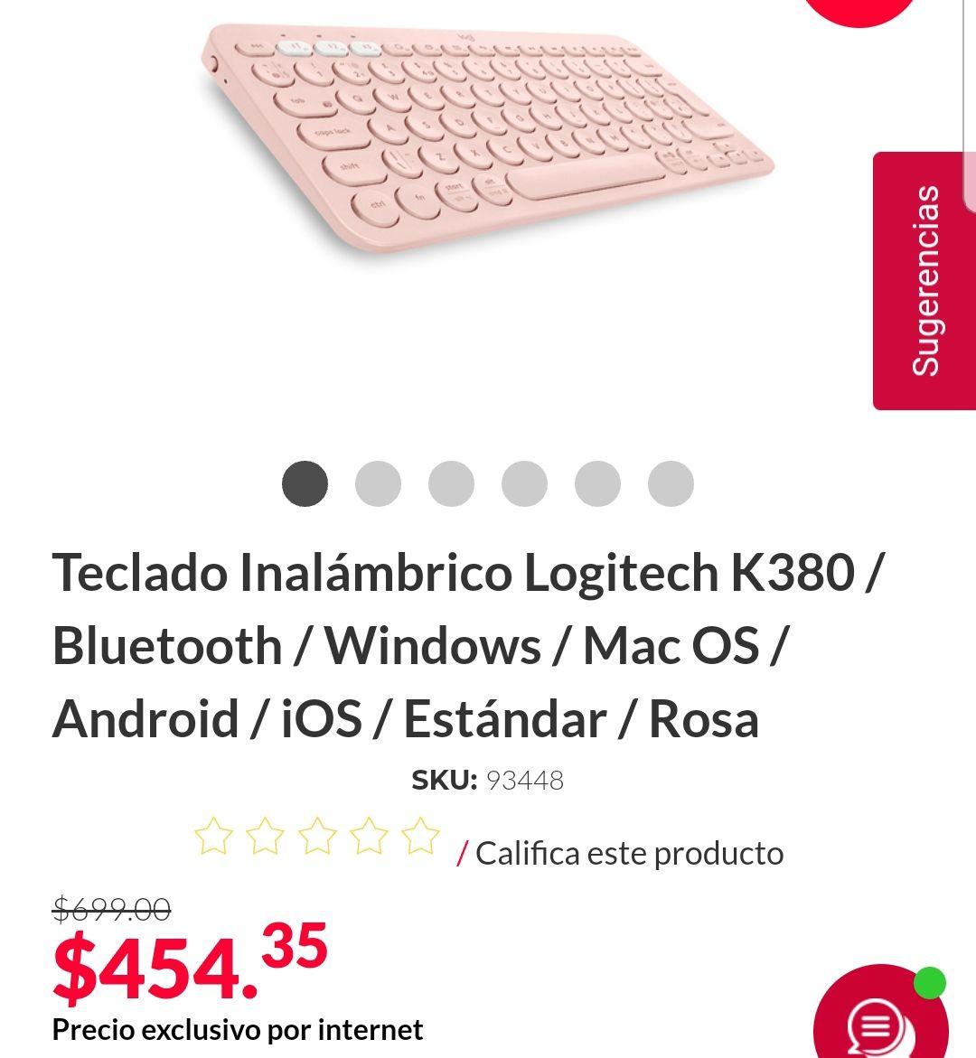 Office Depot: Teclado K380 Rosa