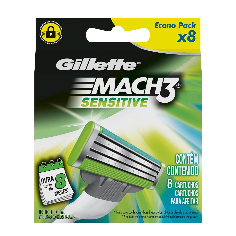 Amazon Mexico: Descuento en repuestos Gillette Mach3 Sensitive y Fusion Proglide desde $134.00