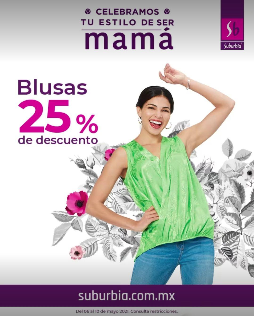 Suburbia: 25% de descuento en blusas, pantalones, bolsas, joyería y relojes para dama + hasta 9 MSI