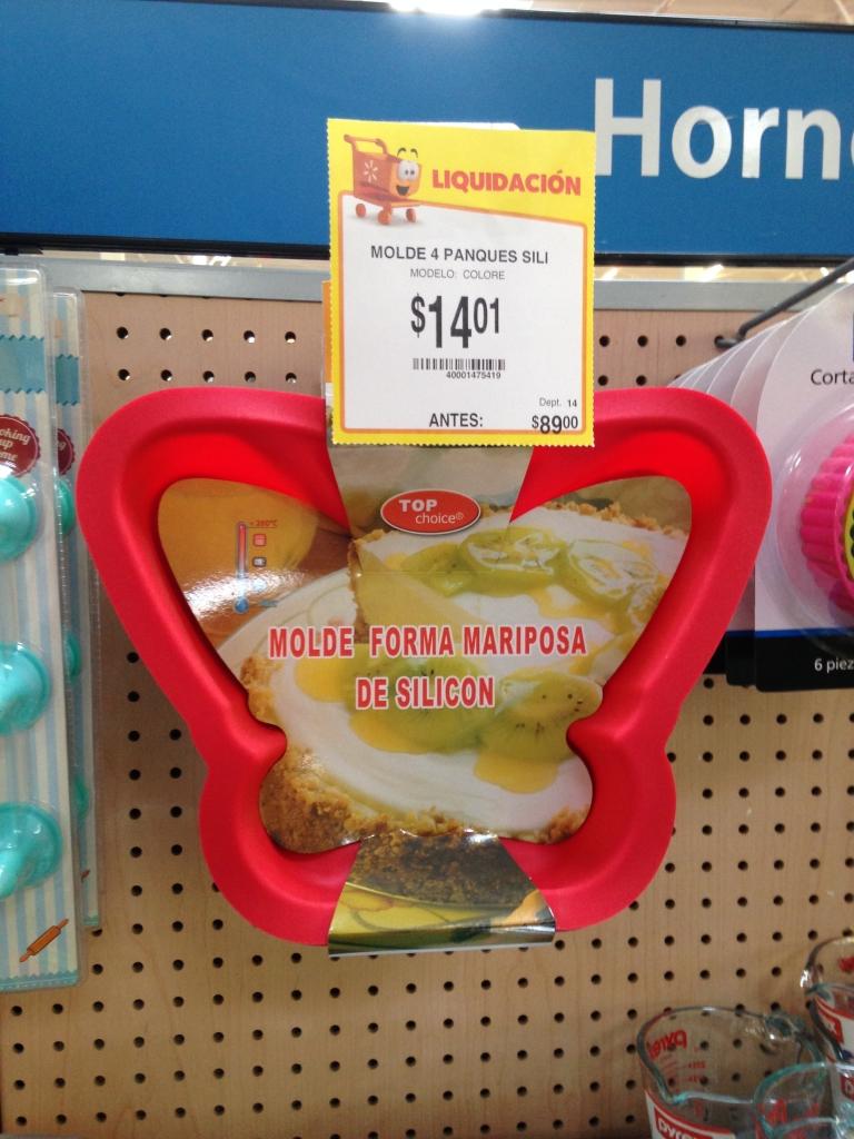Walmart: Molde de silicón en forma de mariposa marca Top Choice a $14.01