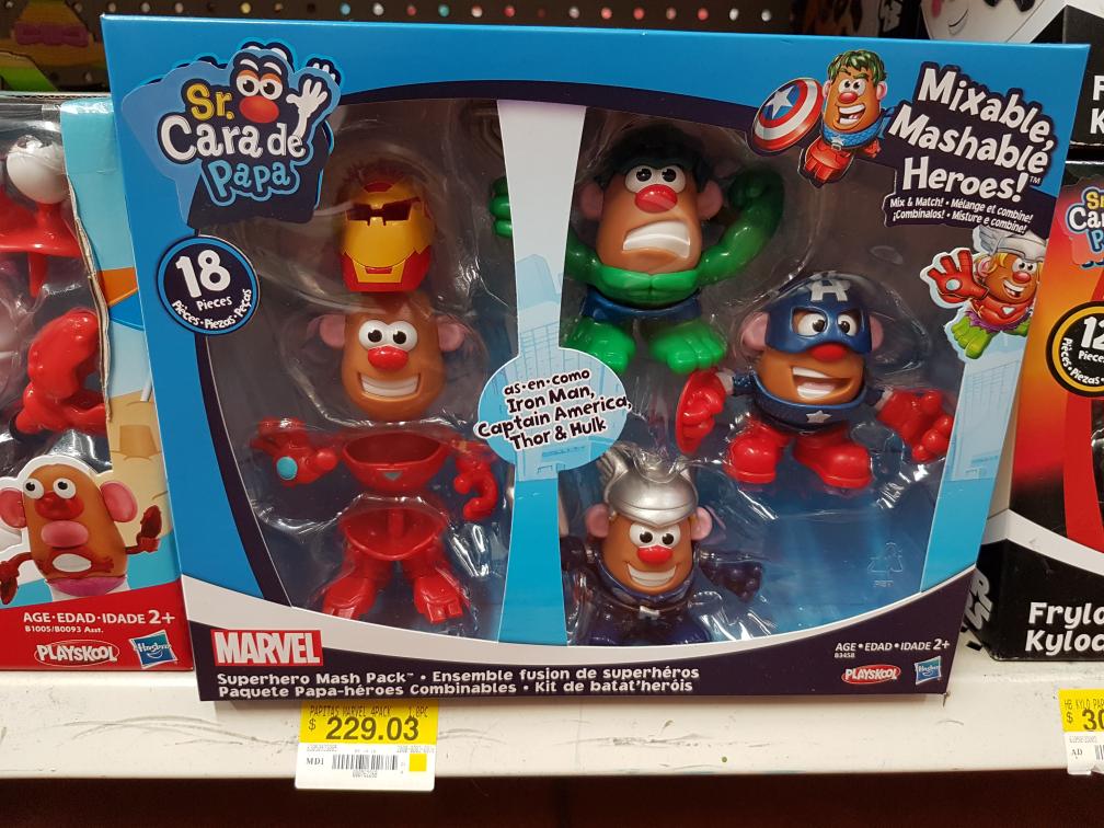 Walmart Uruapan: Sr.Ccara de Papa Avengers a $229.03