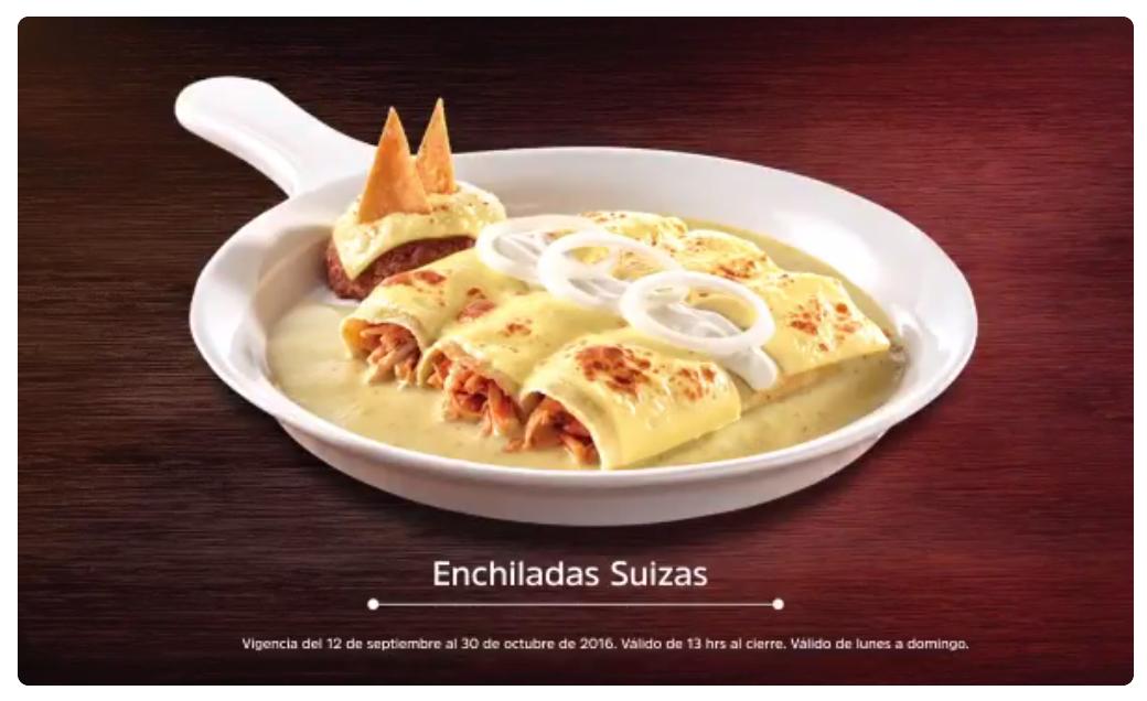 Regresan tus clásicos en Vips: Enchiladas Suizas y más a solo $50