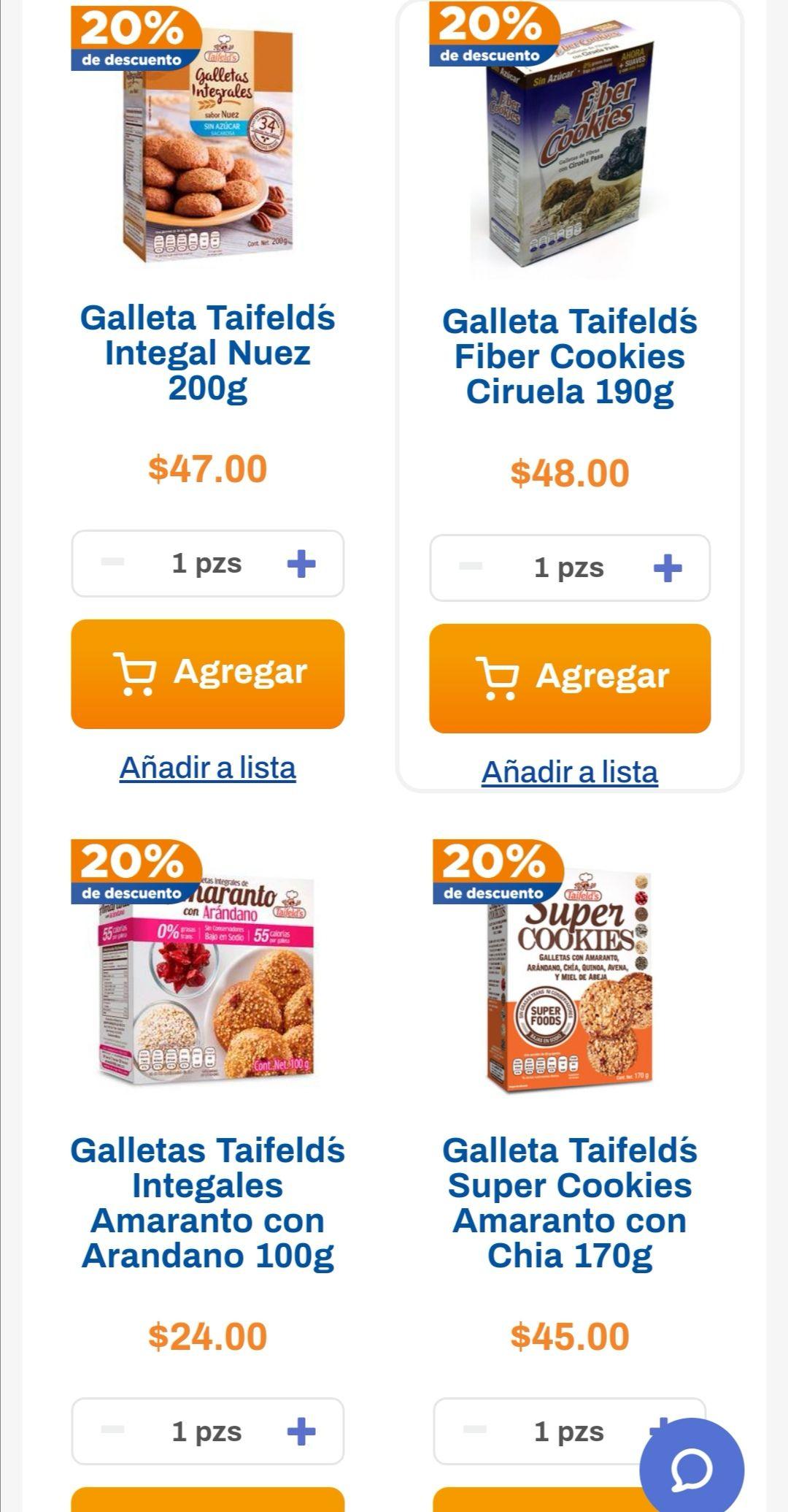 Chedraui: 20% de descuento en galletas Taifeld's