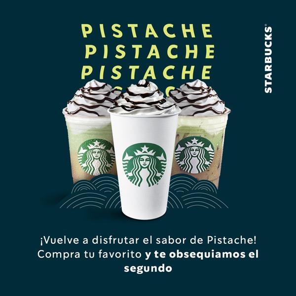 Starbucks: 2x1 en bebidas pistache mocha