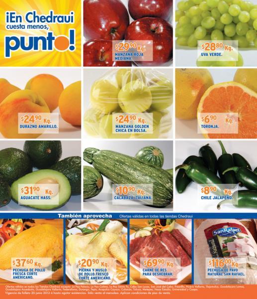 Miércoles de frutas y verduras Chedraui junio 20: elote $0.50 pza, kiwi $17.90 y más