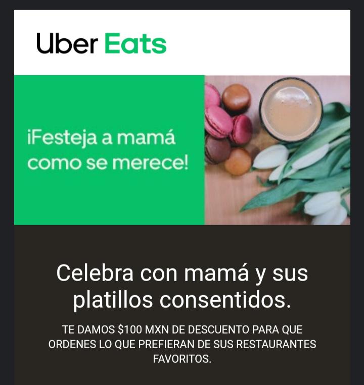 Uber Eats: $100 de Descuento en Compras de $200