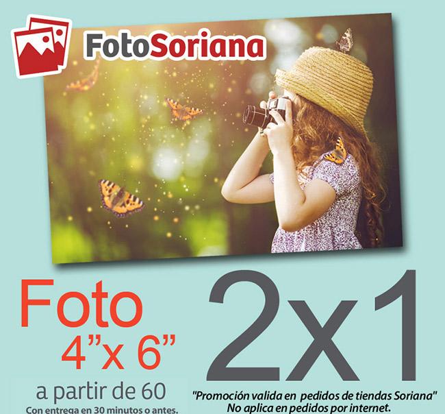 """Soriana Foto Soriana: 2 x 1 en foto 4"""" x 6"""" (a partir de 60 fotos) del 15 al 18 de Septiembre"""