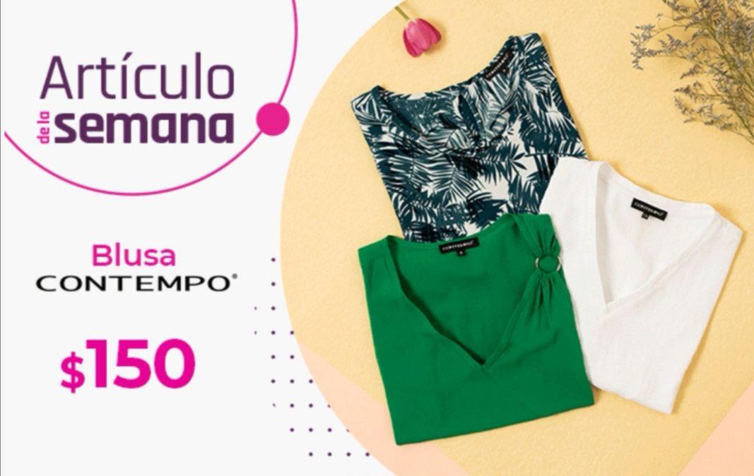 Suburbia: Artículo de la Semana del Lunes 10 al Domingo 16 de Mayo: Blusa Contempo $150 (aplica 25% desc. $112.50)
