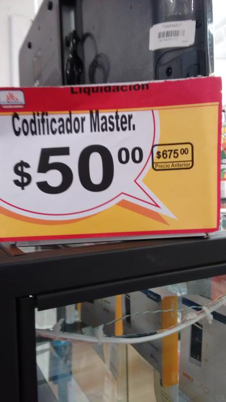 Chedraui: Codificador Master $50