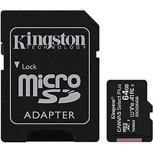 Amazon: Kingston MicroSDXC Select Plus 64GB