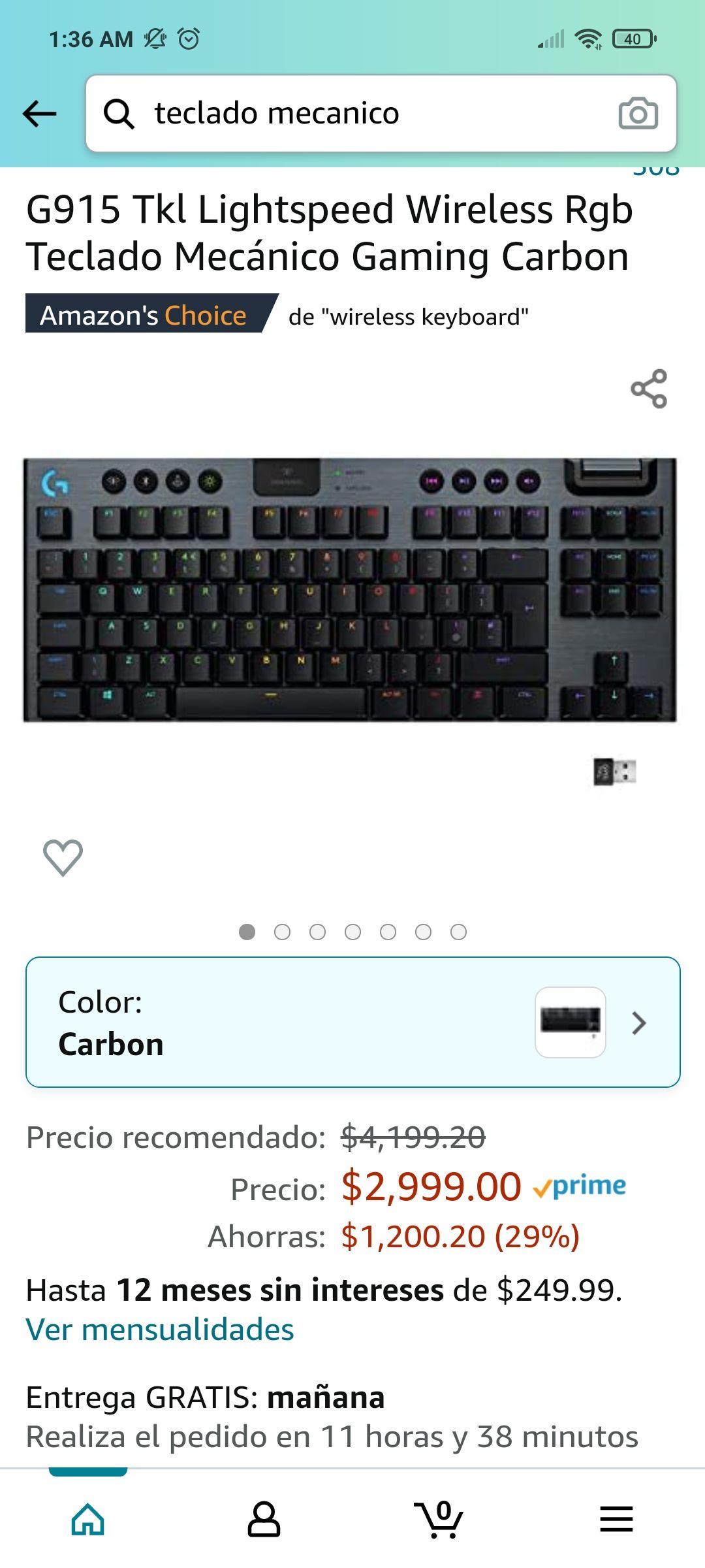 Amazon: Logitech G915 Lightspeed Wireless RGB