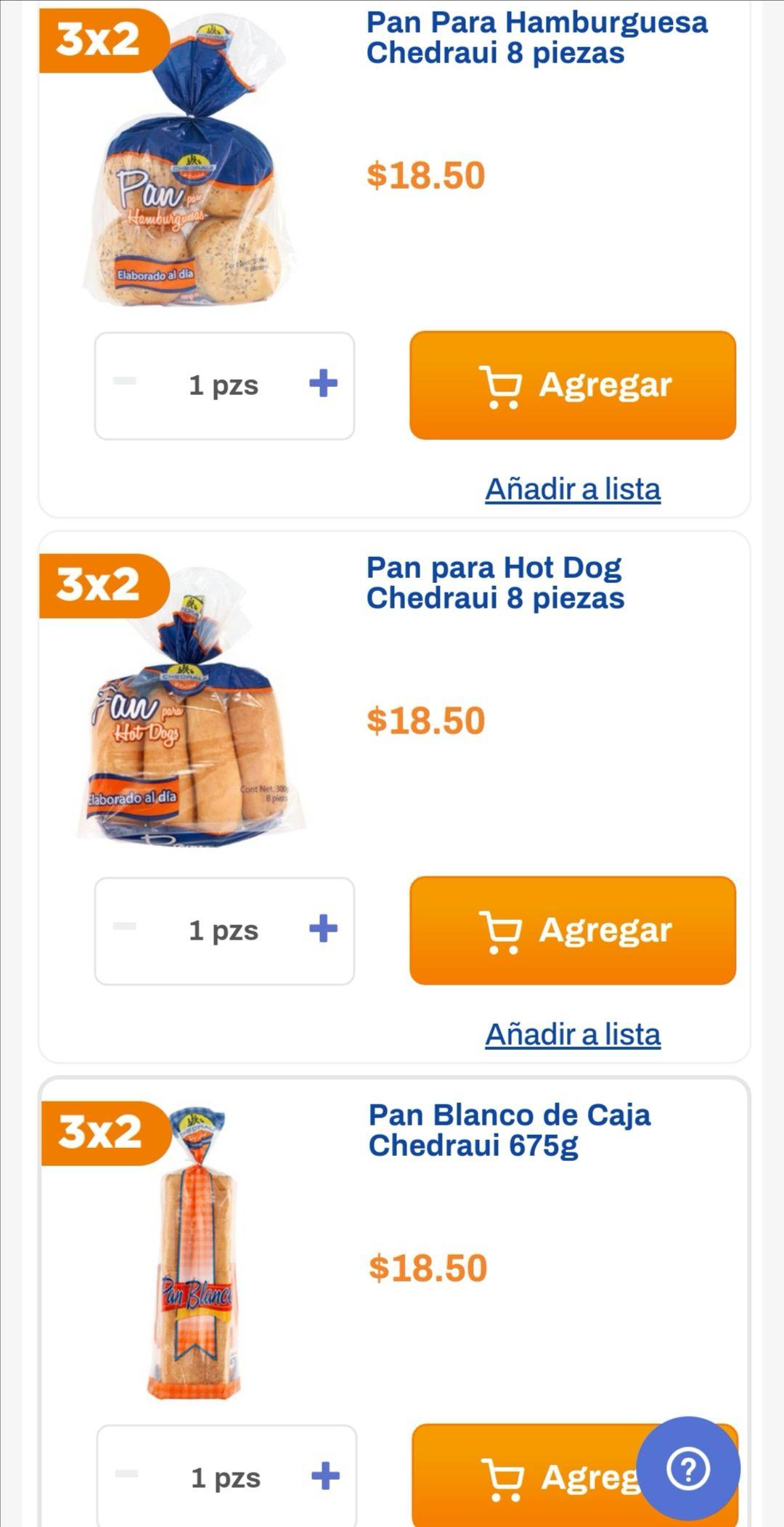 Chedraui: 3 x 2 en pan blanco de caja, pan para hamburguesa y pan para hot dog marca Chedraui