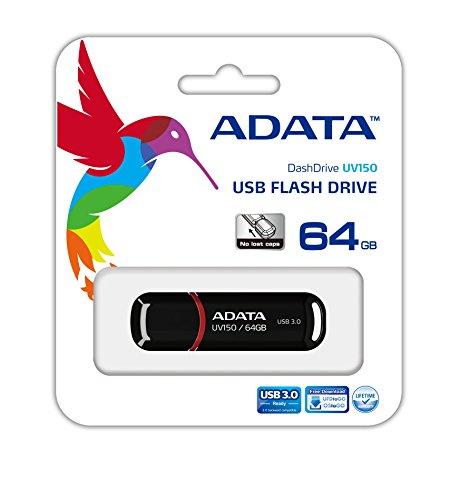 Amazon: ADATA Memoria Flash USB 3.0 negro con rojo 64GB