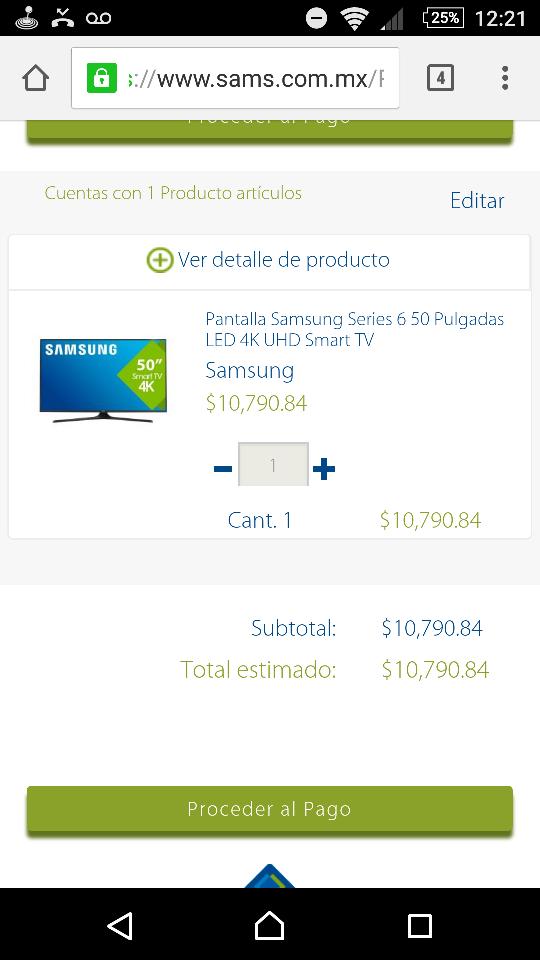 """Sam's Club: Smart TV Samsung de 50"""" 4K UHD UN50KU6000FXZX ($10,791 pagando a meses con bonificación)"""