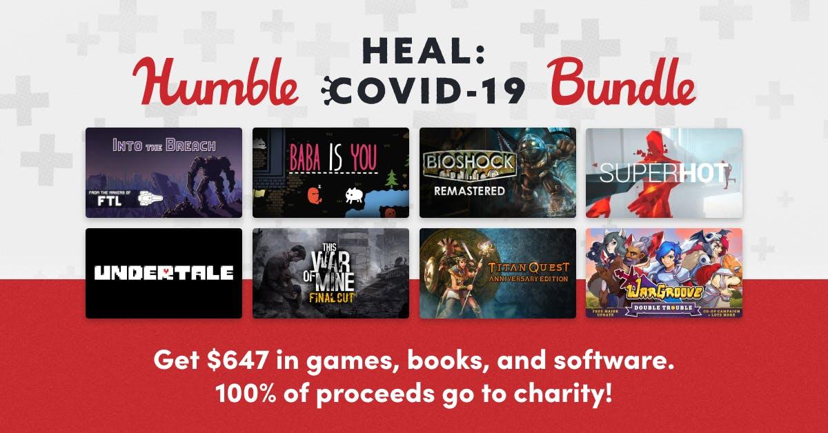 Humble Heal: Covid-19 Bundle - Paquete de videojuegos, libros, cómics y software para ayudar a salvar vidas