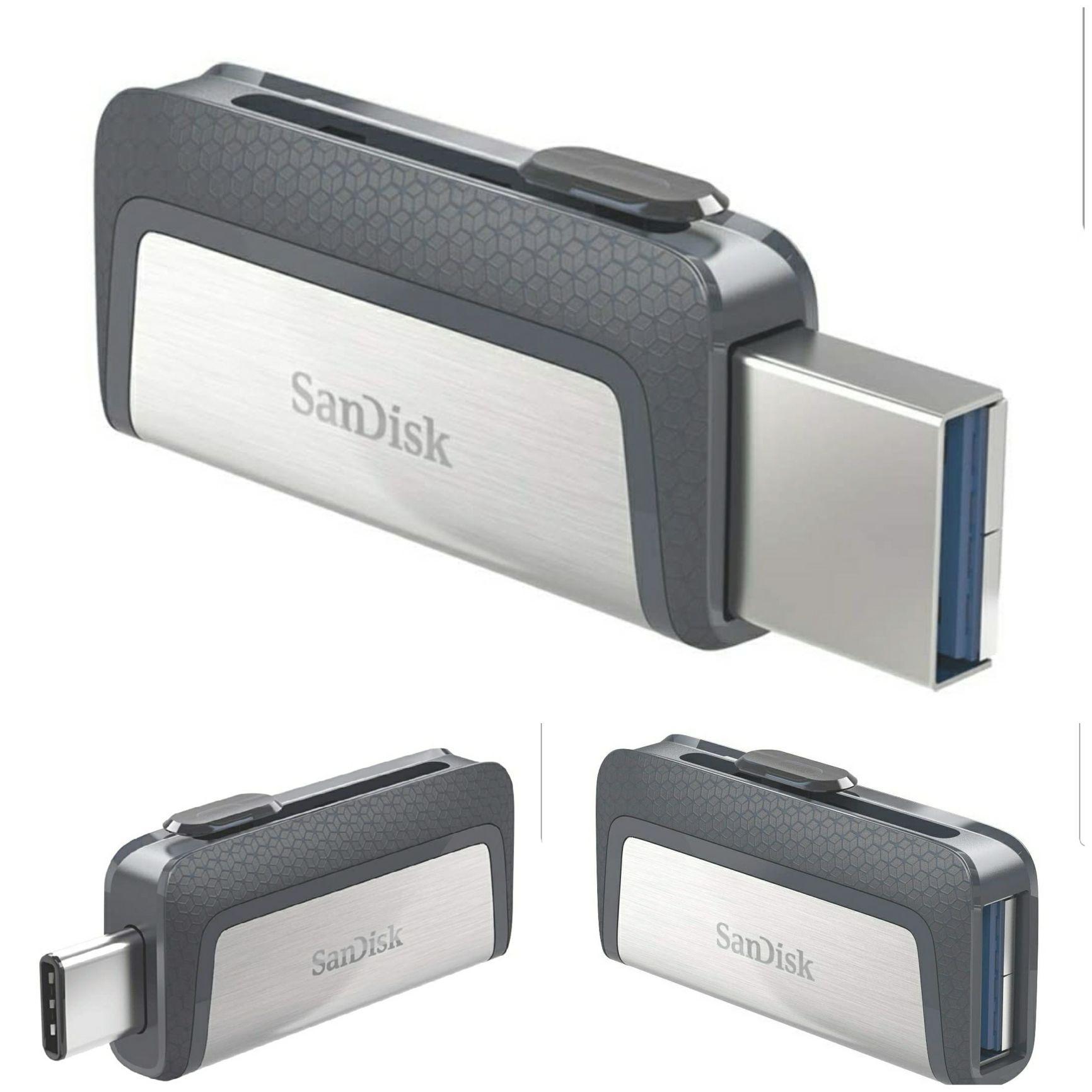 Amazon: Flash USB 3.1 Sandisk Dual Tipo C Ultra 256gb (Precio más bajo según Keepa)