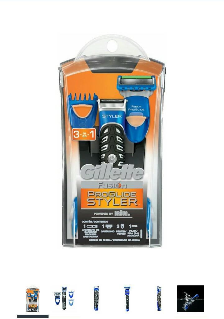 Amazon: Gillette Fusion ProGlide Maquina Rasuradora Power Styler