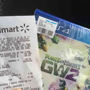 Walmart: Plantas vs Zombies Garden Warfare 2 PS4 y Xbox One a $199.03
