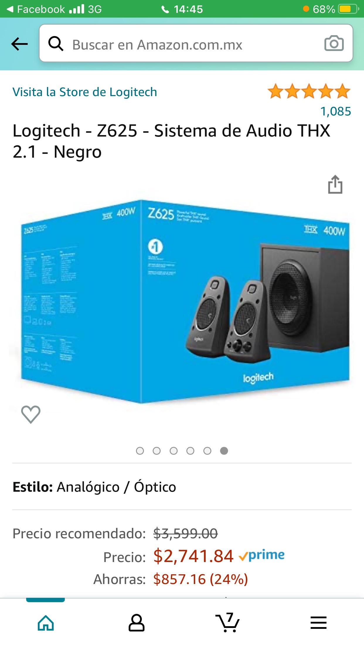 Amazon: bocinas Z625
