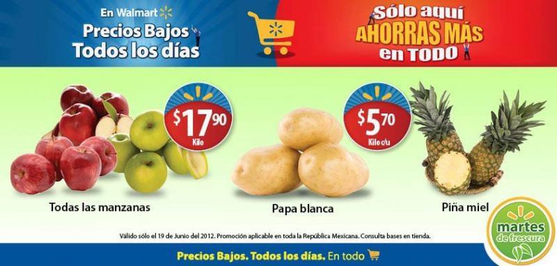 Martes de frescura en Walmart junio 19: piña $5.70, manzana $17.90 y más