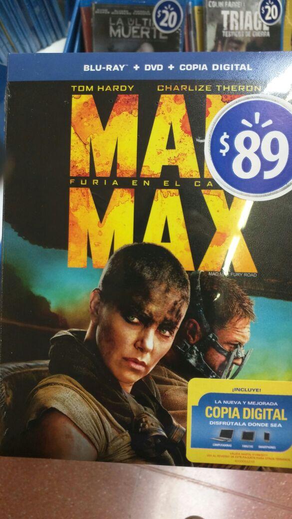 Walmart: Mad Max Fury Road, Bluray +DVD +Copia Digital