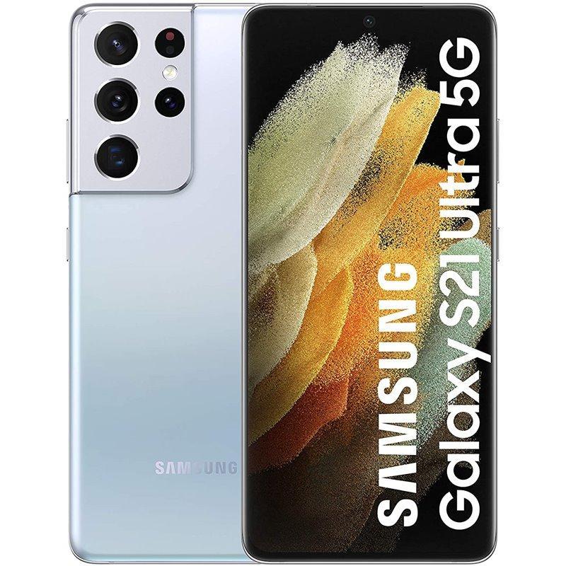 Elektra: Samsung Galaxy S21 Ultra 256GB 5G Plata Fantasma Pagando con Crédito Elektra