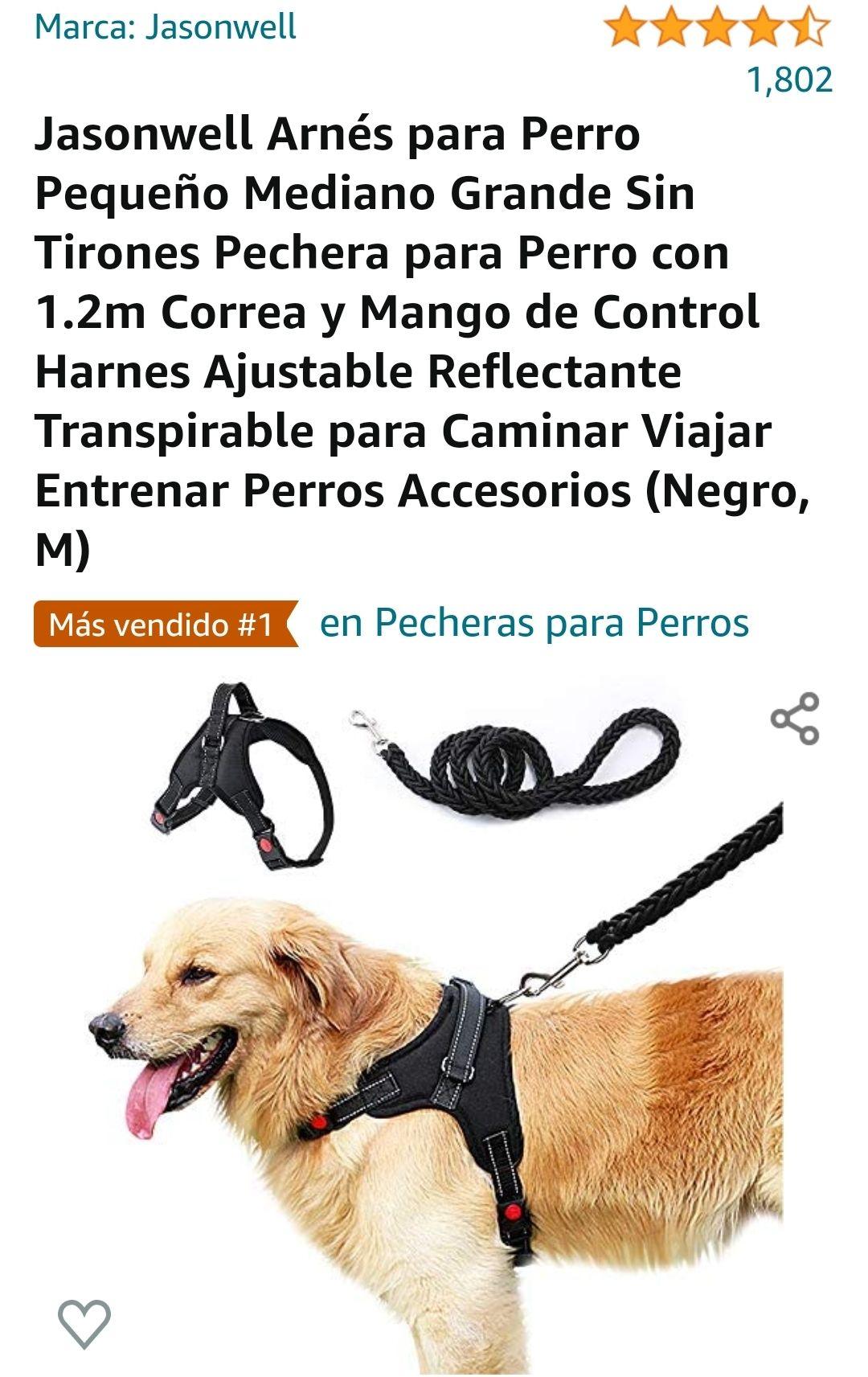 Amazon: Pechera para perro con correa